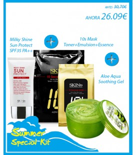 Milky Shine Sun Protect+10s Mask+Aloe Aqua Soothing Gel