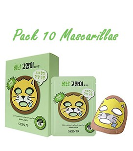 Pack 10 Mascarillas-Angry Cat Animal Mask