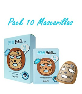 Pack 10 Mascarillas-Dry Monkey Animal Mask