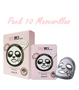Pack 10 Mascarillas-Dark Panda Animal Mask