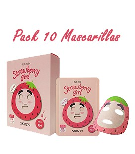 Pack 10 Mascarillas-Strawberry Girl Fruit Mask
