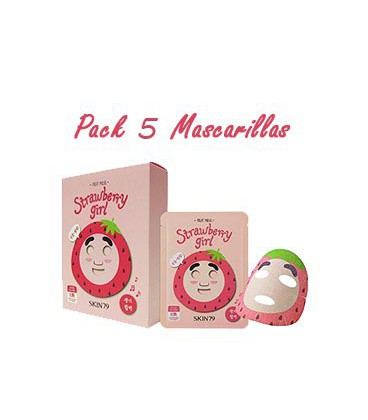 Pack 5 Mascarillas -Strawberry Girl Fruit Mask