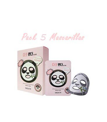 Pack 5 Mascarillas-Dark Panda Animal Mask