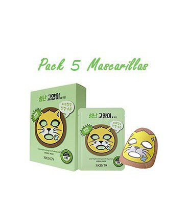 Pack 5 Mascarillas-Angry Cat Animal Mask