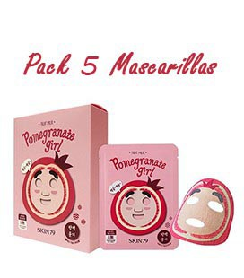 Pack 5 Mascarillas-Pomegranate Girl Fruit Mask