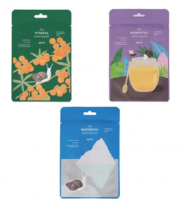 PACK 3 SNAIL MASKS